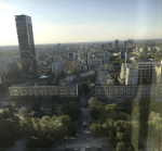 A view of Warsaw from the 23rd floor of the Palace of Culture and Science.