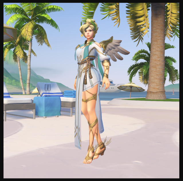 Mercy as 'Winged Victory'