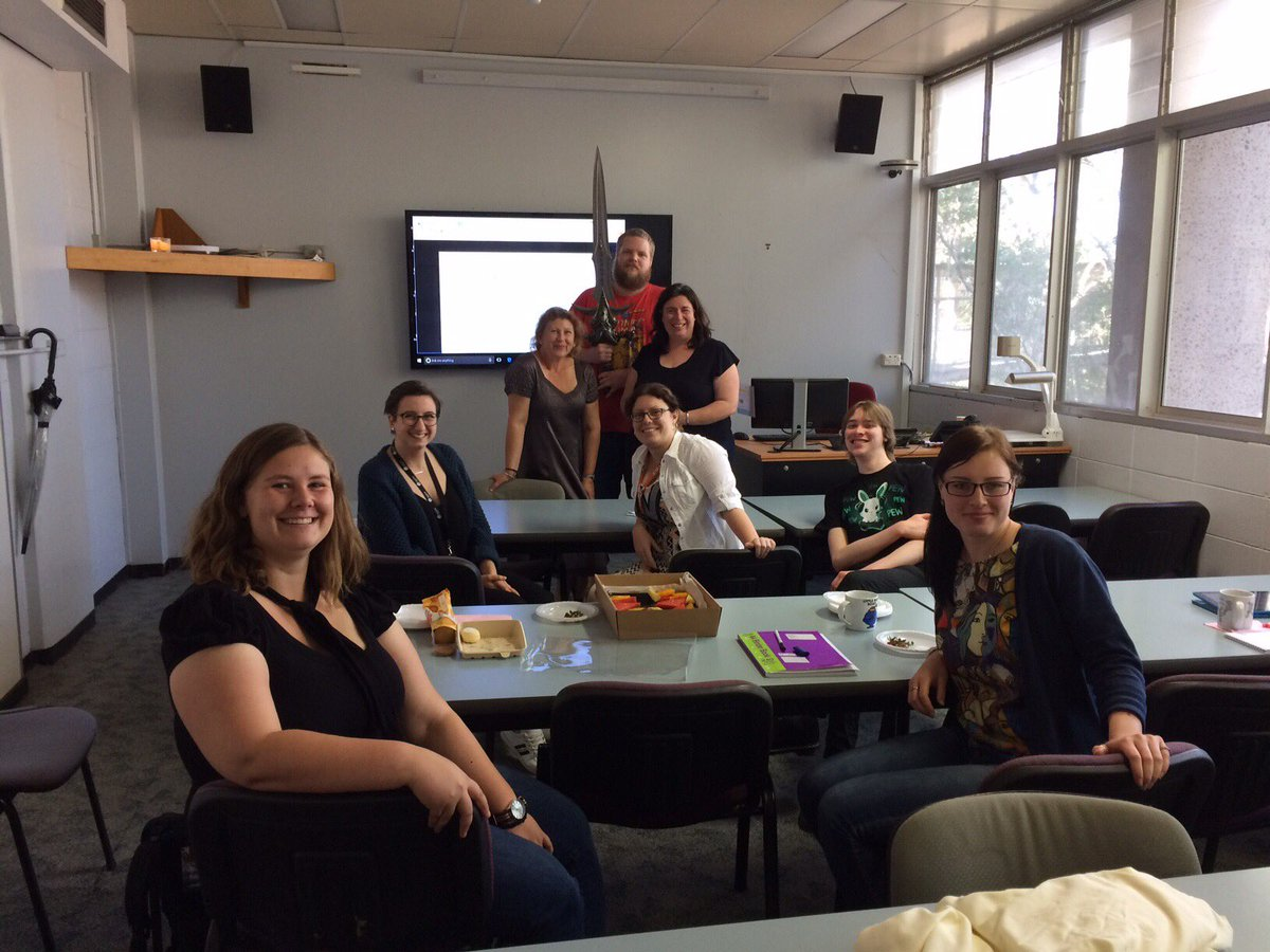 Liz, Marguerite, Excalibur, and the wonderful students of Folklore@UON