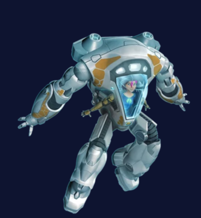 Fontaine Nekton in the White Knight EVA suit