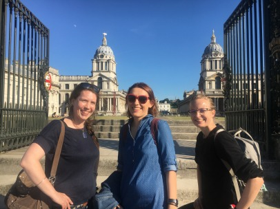 Sonya, Hanna, and Anna at the Royal Naval College, Greenwich