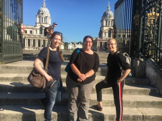 Sonya, Liz and Anna at the Royal Naval College, Greenwich