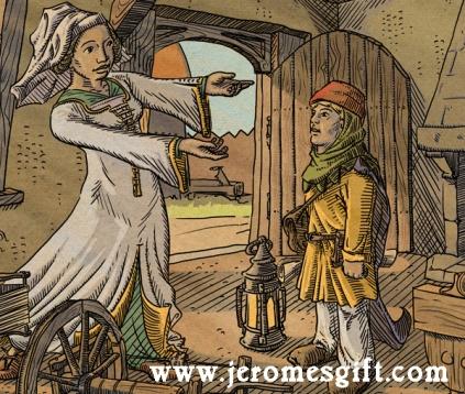 Jerome and mother, copyright Trent Denham