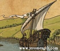 Jerome's boat, copyright Trent Denham