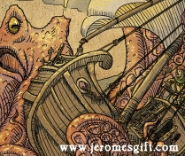 Jerome and the Kraken, copyright Trent Denham