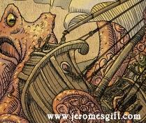 Jerome and the Kraken, copyright Trent Denham