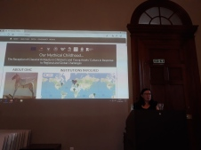 Liz shows where in the world are Our Mythical scholars